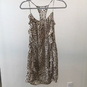 Brown and Tan Patterned Dress